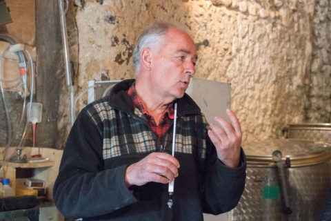 Christian Lombart explication vinification Soupçons en Jurançon
